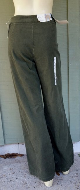 Jones New York Corduroy Boot Cut Pants Green
