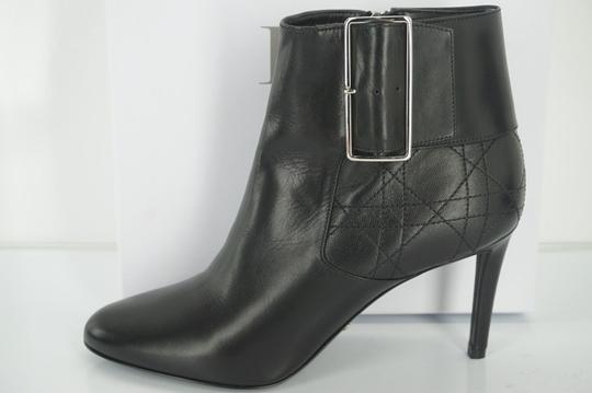 Preload https://item4.tradesy.com/images/dior-black-quilted-stitched-leather-buckle-high-heel-ankle-bootsbooties-size-eu-385-approx-us-85-reg-14888173-0-0.jpg?width=440&height=440