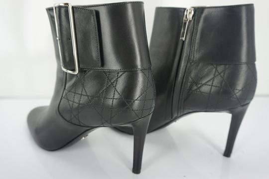 Dior 041602 Quilted Christian Black Boots