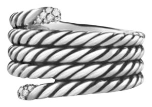 David Yurman David Yurman Willow Ring with Diamond Tips Sterling Silver-Never Worn