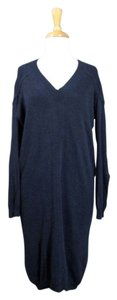 Zero + Maria Cornejo short dress Blue Sweater Silk Cashmere on Tradesy