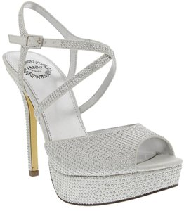 I.Miller Studded Sparkle Wedding Silver Sandals