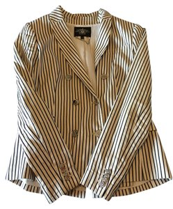 Rachel Roy Pinstripe Navy and Cream Blazer