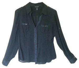 White House | Black Market Shirt Office Button Down Shirt Silk