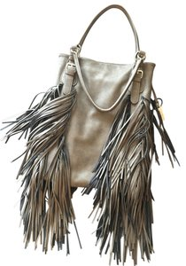 Free People Fringe Faux Leather Shoulder Bag