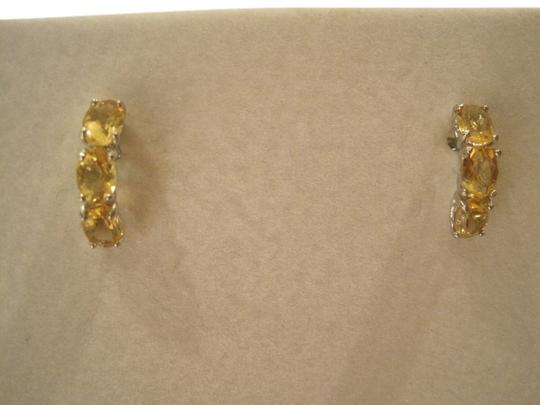 VIR Jewels 3-Stone Citrine Earrings (3.45 CT) with .925 Sterling Silver - [ Roxanne Anjou Closet ]