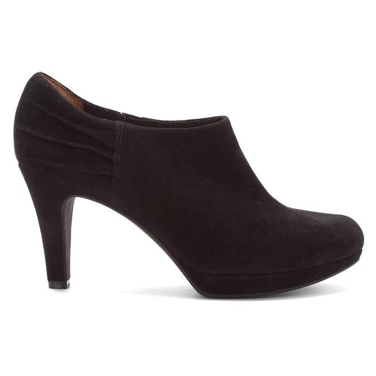Clarks Suede Heel Ankle Black Boots