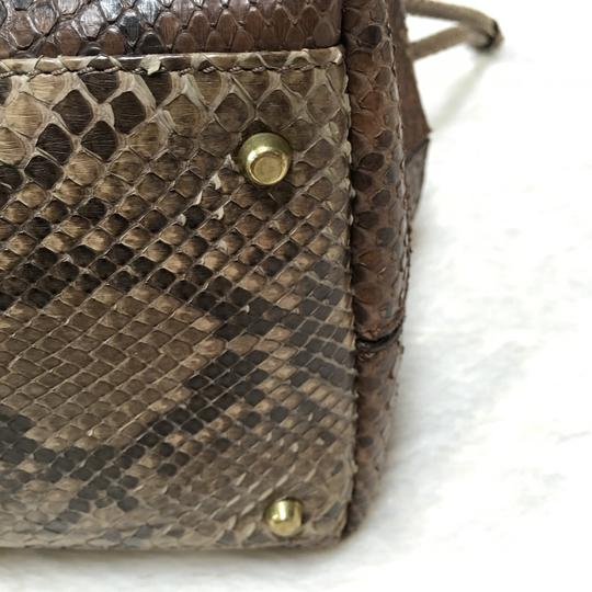 Mauro Governa SAKS FIFTH AVENUE made in Italy Tote in Tones Of Brown, Dark Beige