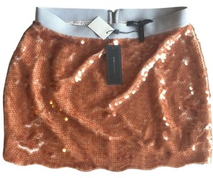 BCBGMAXAZRIA Sequin Bcbg Mini Skirt Gold Sequin
