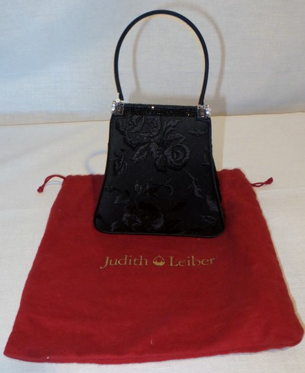 Judith Leiber Evening Rare Swarovski Crystals Black, Silver Clutch