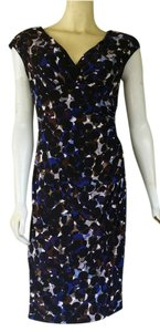American Living Pull-on Ruched Stretch Circle Print Dress