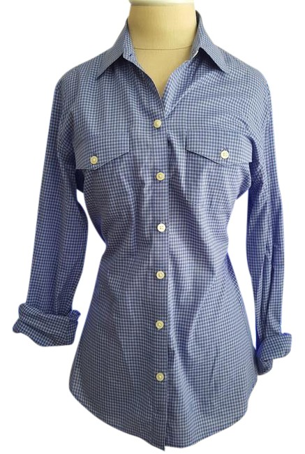 Preload https://item1.tradesy.com/images/banana-republic-blue-chambray-button-down-top-size-4-s-14889280-0-1.jpg?width=400&height=650