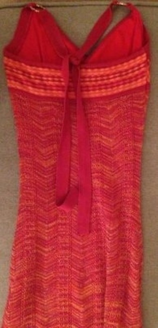 Guess & W/ Gold Accents Size S Back Tie Neck Slip Underneath Rayon & Nylon Dress