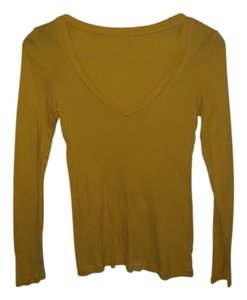 Old Navy Longsleeve T Shirt Yellow
