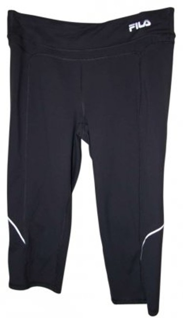Fila 88% Polyester 12% Spandex Tight Running Capri With Side Reflectors