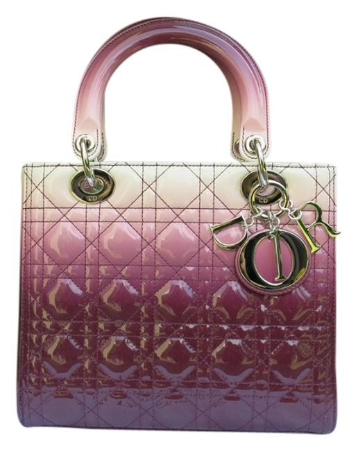 Item - Lady New Limited Edition Medium Gradient Purple and White Patent Leather Tote