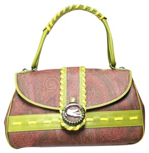 Etro Satchel in Multi-color Pattern Leather