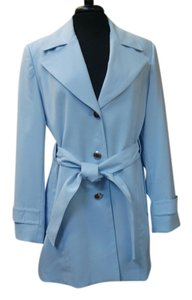 Anne Klein Light Trench Blue Jacket