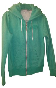 Vans Hoodie Full Zipper Turquoise Green Jacket