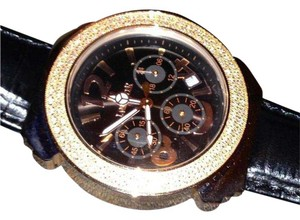 Lancaster *SALE* NEW! Real Diamond Rose Gold Leather Watch