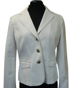 Ann Taylor Denim Blazer white Jacket