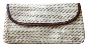 Straw Bohemian Beige and Brown Clutch