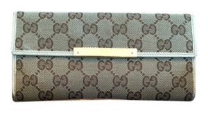 Gucci Gucci GG Continental Canvas and Leather Wallet