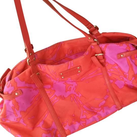 Preload https://item2.tradesy.com/images/kate-spade-orange-and-pink-fabric-tote-14890876-0-1.jpg?width=440&height=440