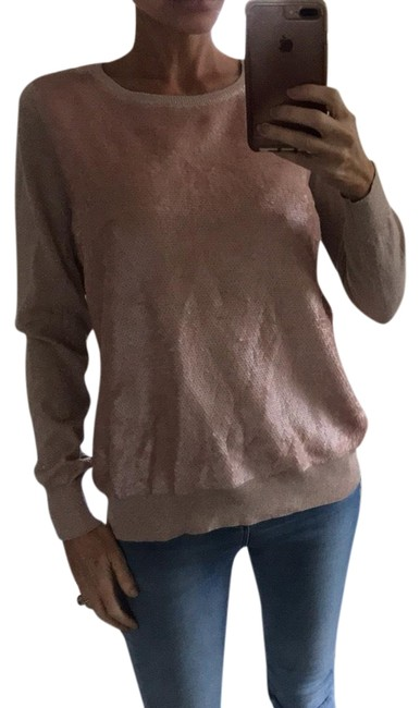 Preload https://item5.tradesy.com/images/h-and-m-long-sleeve-sequin-light-pink-sweater-14890879-0-3.jpg?width=400&height=650