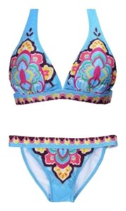 Vibrant colors two piece bikini. With removable pads.