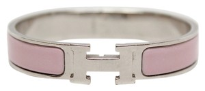 Hermès Hermes Rose Dragee Narrow Enamel Bracelet PM