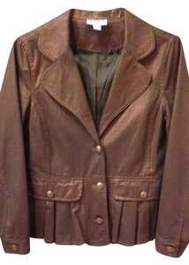 Northern Style Bronze Brown Bronze, Metalic Womens Jean Jacket