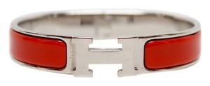 Hermès Hermes Red Narrow Enamel Bracelet PM