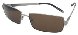 Tumi New TUMI Zeiss Polarized Sunglasses TOBIN Brushed Silver Frames w/ Brown Lenses