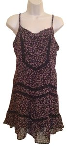 American Rag short dress Black Floral on Tradesy