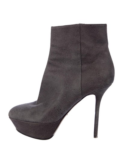 Sergio Rossi Leather Ankle Gray Boots