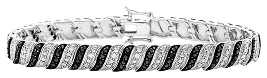 Preload https://img-static.tradesy.com/item/1489175/new-100-carat-black-and-white-diamond-whitegold-plated-bracelet-0-0-540-540.jpg
