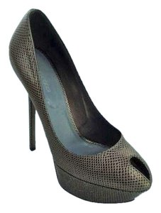 Sergio Rossi Bronze/grey Pumps