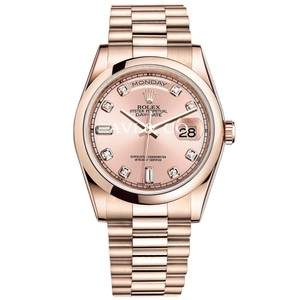 Rolex Rolex Day-Date 36 18K Everose Gold President Pink Diamond Dial