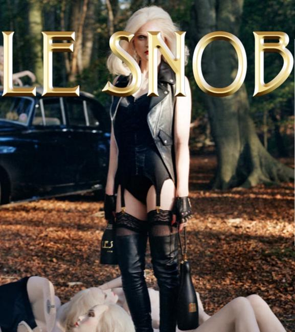 LE SNOB Leather Bag Convertible Vest