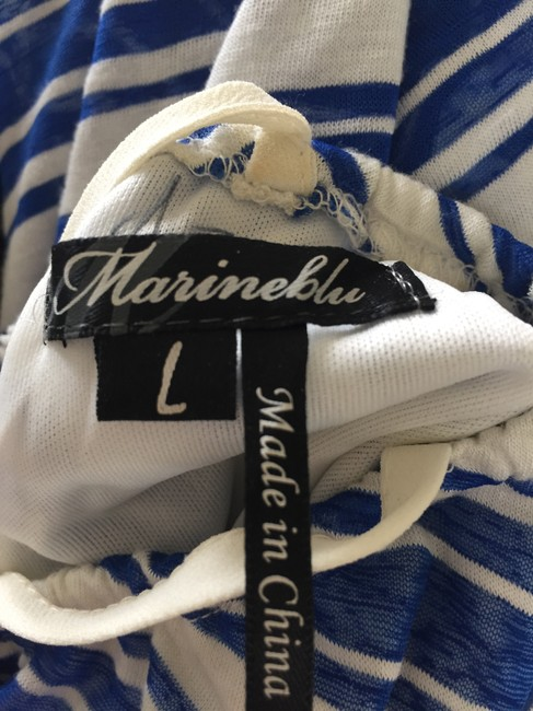 Blue and white Maxi Dress by Marineblu