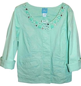 Lark Lane Embellished Spring Aqua Jacket