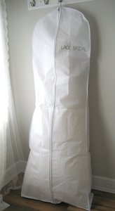 White Breathable Wedding Gown Dress Garment Bag By Lace Bridal