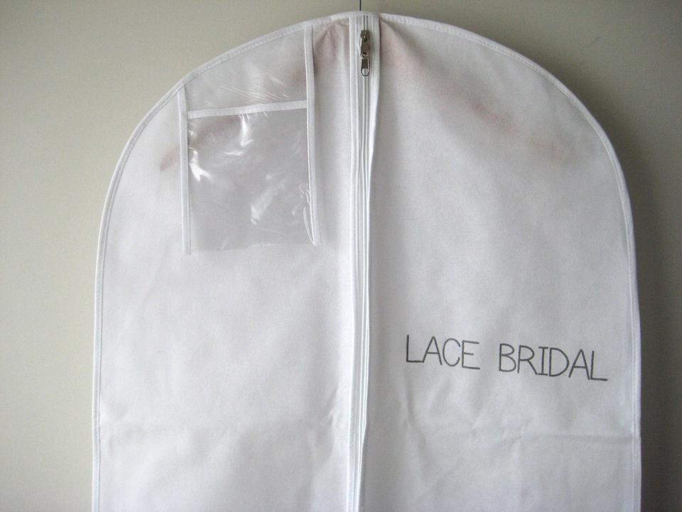 White Breathable Wedding Gown Dress Garment Bag By Lace Bridal - Tradesy