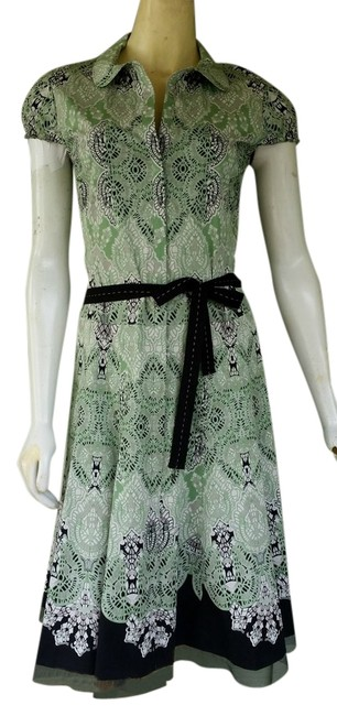 Preload https://img-static.tradesy.com/item/14892169/gianni-bini-green-black-print-cotton-blend-tie-belt-knee-length-short-casual-dress-size-4-s-0-1-650-650.jpg
