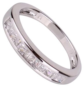 Other New White Topaz & White Gold Filled Wedding Band 5, 6, 7, 8, 9