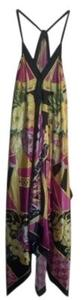 Pink, yellow, black, green floral Maxi Dress by Kaelyn-Max