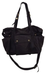 Not Rational Leather Not Rational Black Diaper Bag