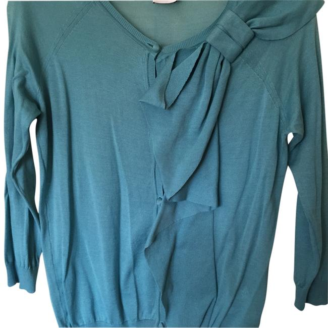 Preload https://item5.tradesy.com/images/red-valentino-aqua-blue-button-down-top-size-12-l-14892244-0-1.jpg?width=400&height=650