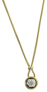 DIAMONDSY WHOLESALE - .50 carat Solitaire pendant set in a Gorgeous 18l yellow gold chain -